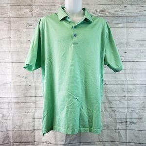 Peter Millar Short Sleeve Polo Sz XL Green Cotton